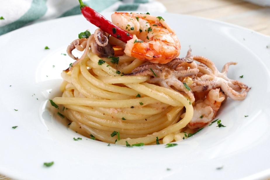 Spaghettoni ciuffetti eGamberoni